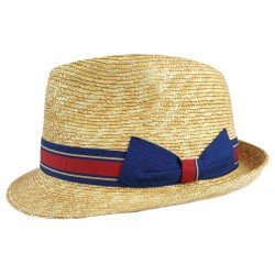 Marone Trilby Straw red