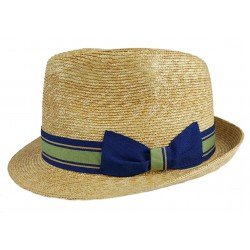 Marone Trilby Straw blue