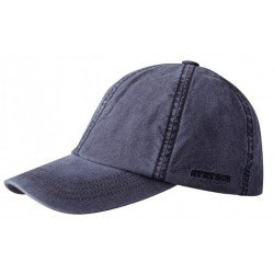 Stetson Baseball cap Delave cotton blue navy - Chapellerie ile de Ré