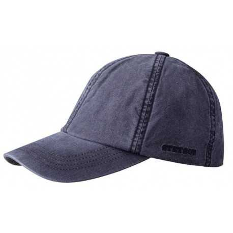 Stetson Baseball cap Dealve cotton blue navy