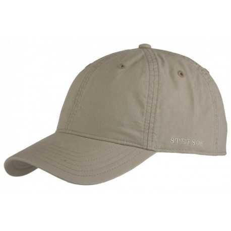 Stetson Baseball cap Dealve cotton beige