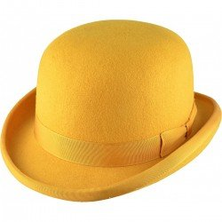 Chapeau Melon jaune moutard