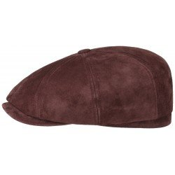 Stetson casquette Hatteras Nubuck cuir rouge