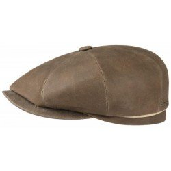 Stetson cap hatteras lamb leather