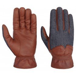 Stetson leather gloves nappa-denim