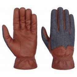 Stetson leather gloves nappa-denim - Chapellerie ile de Ré