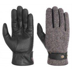 Stetson gants laine et cuir