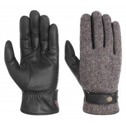Stetson wool and leather gloves