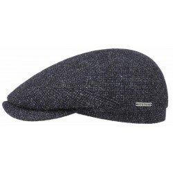Stetson casquette Driver Cap laine bleue