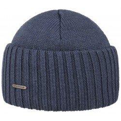 Stetson bonnet laine Merino bleu ciel