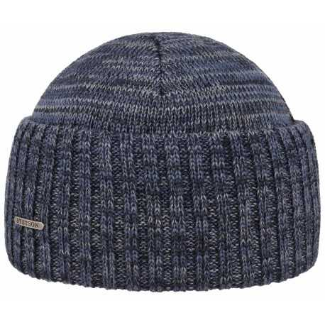 Stetson beanie mix blue virging wool