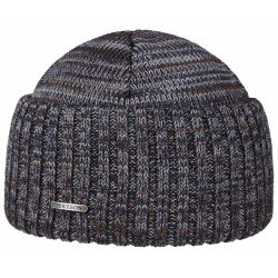 Stetson beanie mix brown virging wool