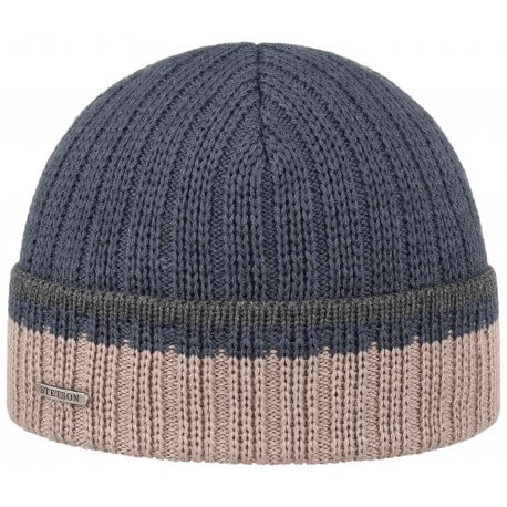 Stetson beanie wool and acrylic blue