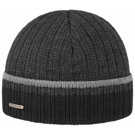 Stetson beanie wool and acrylic grey