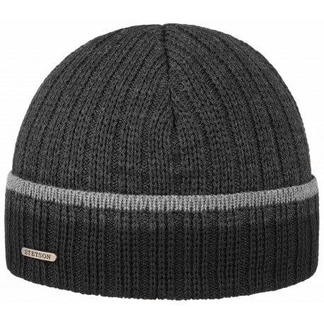 Stetson bonnet laine et acrylique gris