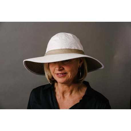 Soway Chapeau mixte « Naturel » grand bord anti-UV