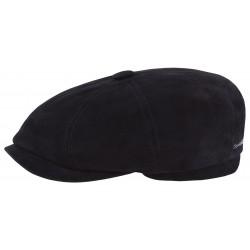 Stetson casquette hatteras Suede bleu marine