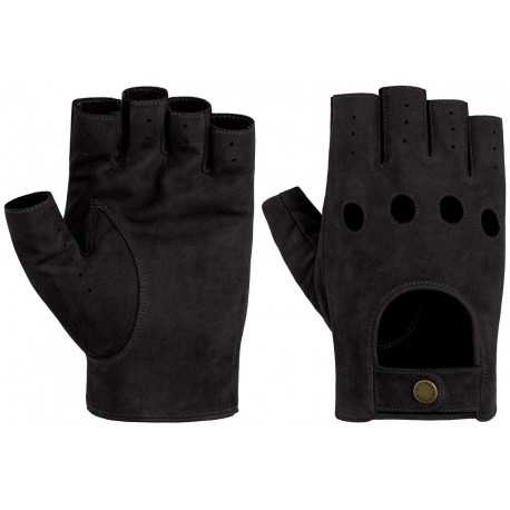 Stetson gants nubuck noir