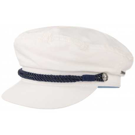 Stetson sailor cap Dyed white