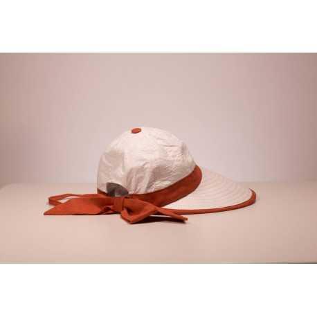 """Soway """"Bauloise 2"""" cap with large anti-UV visor - Chapellerie ile de Ré"""