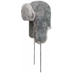Stetson Chapka bomber cap gris