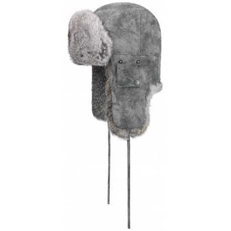 Stetson Chapka bomber cap grey
