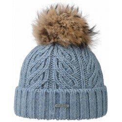 Stetson blue beanie Racoon wool