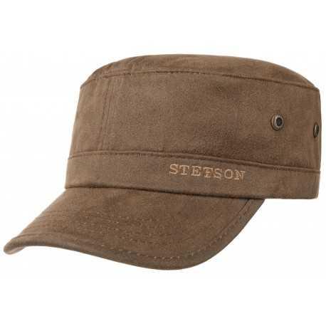 Stetson Army cap brown copes - Chapellerie ile de Ré