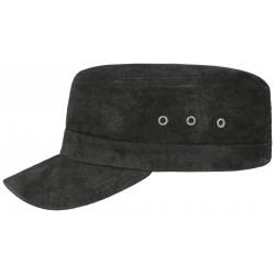 Stetson leather army cap - Chapellerie ile de Ré