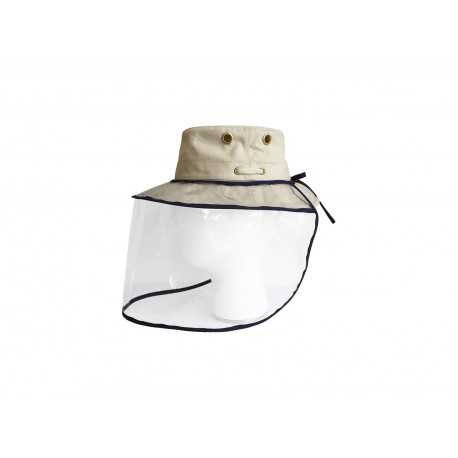 Protection visage support chapeau