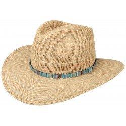Stetson chapeau Western raphia crochet