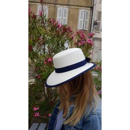 City Sport visor white and navy - Chapellerie ile de Ré