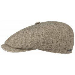 Stetson cap hatteras cotton and linen beige