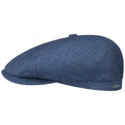 Stetson casquette en lin bleue