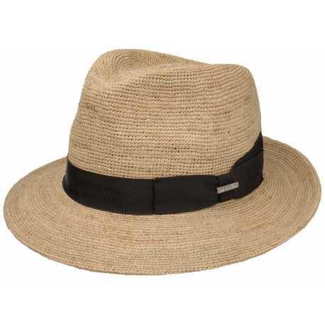 Stetson chapeau crochet raphia