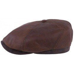 Stetson cap leather 6 panel
