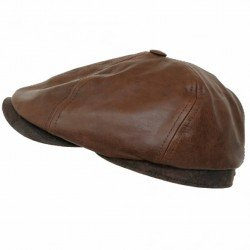 Stetson cap leather 6 panel - Chapellerie ile de Ré