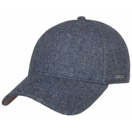 Stetson baseball cap wool Herringbone - Chapellerie ile de Ré