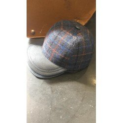 wool and leather cap Vecchi Bolssom