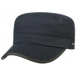Stetson army military cap cotton Herringbone