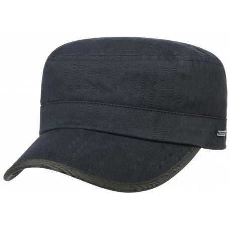 Stetson army military cap cotton Herringbone