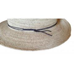Marone Chapeau crochet fine 100% paille - Chapellerie ile de Ré
