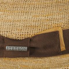 Stetson Chapeau Trilby Raphia crochet - Chapellerie ile de Ré