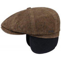 Casquette Stetson Hatteras cuir avec cache oreille - Chapellerie ile de Ré