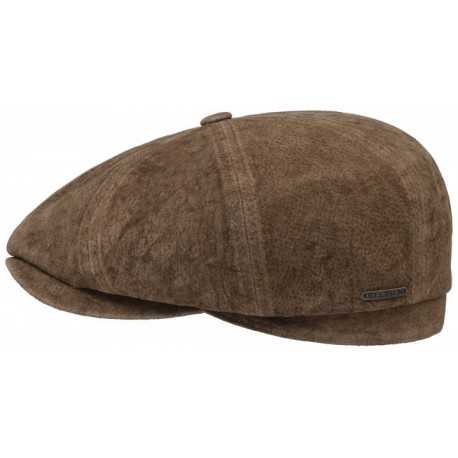 Stetson Hatteras Leather Cap with Ear Cap