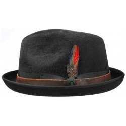 Stetson pork pie Manhattan black - Chapellerie ile de Ré