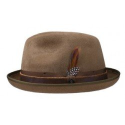Stetson pork pie Manhattan brown - Chapellerie ile de Ré