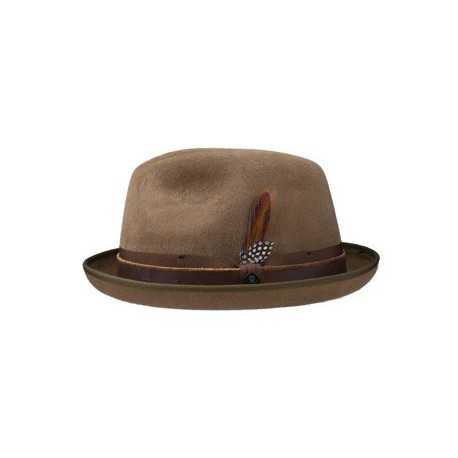 Stetson pork pie Manhattan brown
