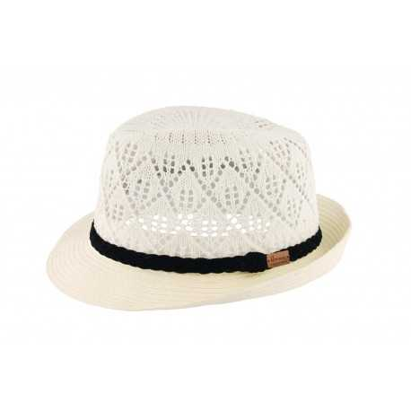 Herman Trilby Don Hole, white - Chapellerie ile de Ré